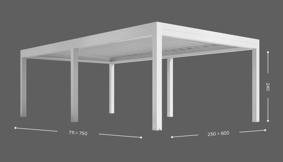 ZENIT ISOLA - Samostoječa izvedba - 6 stebrov