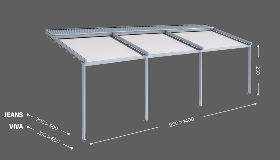 JEANS / VIVA - Stenska izvedba - 3 modulna