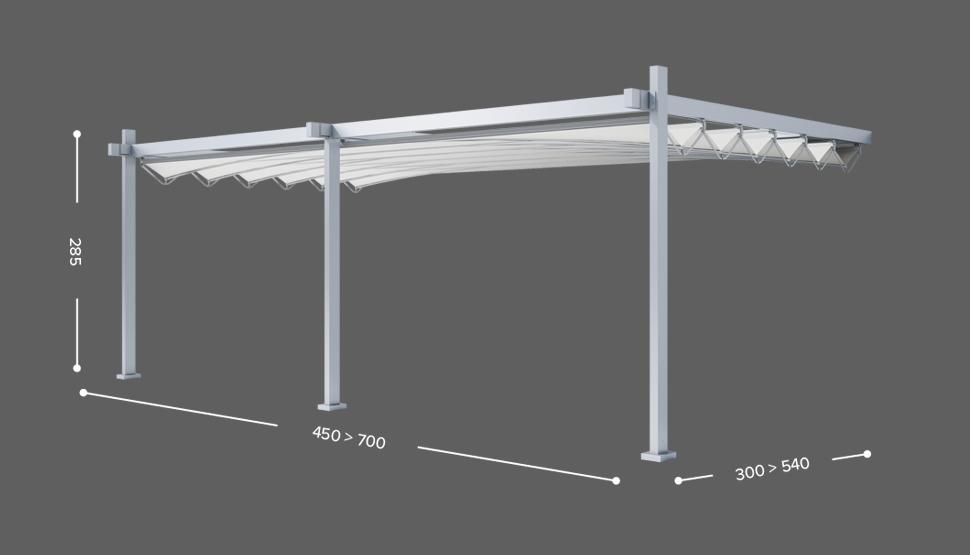 FLY - Stenska izvedba - 3 stebri